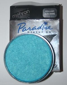 Bleu Bebe (Light Blue) - Mehron Paradise AQ Makeup Face Body Paint Metallic Tropical Pastel Basic Nuance | eBay $13.99 This professional theatrical makeup color glides evenly over skin. Several brilliant, intense colors are available. The colors are bright and exciting. Easy fingertip or brush application. Enough here for a variety of uses. And it is easy to remove.