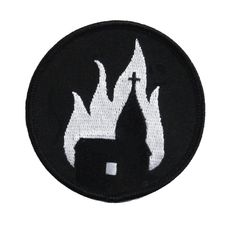 Church burner iron on patch by http://threadwizard.bigcartel.com/product/church-burner-iron-on-patch