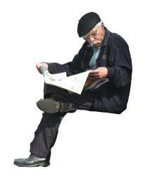 People cutouts: Elderly Sitting 0003 cutout download