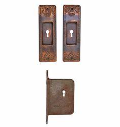 Classical Revival Pocket Door Set w/ Mortise Lock