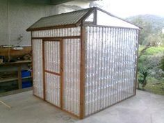 Plastic bottle greenhouse #upcycling #recycling #garden
