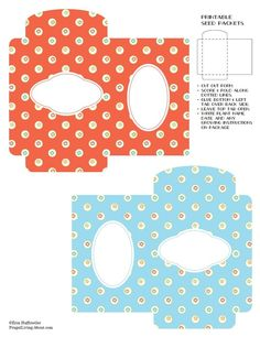 Printable Seed Packets - Calico