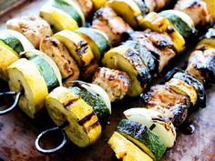 Garlic Balsamic Chicken Kabobs - The Whole Cook