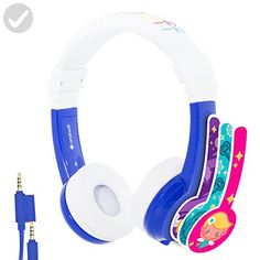 Explore Foldable Volume Limiting Kids Headphones - Durable, Comfortable & Customizable - Built in Headphone Splitter and In Line Mic - For iPad, Kindle, Computers and Tablets - Blue Headphones For Sale, Kids Headphones, Beats Headphones, Over Ear Headphones, Toys For Little Kids, Amazon Gadgets, Tech Gadgets, Headphone Splitter, Tx Usa