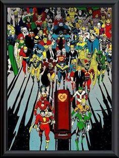 Na imagem, vários super-heróis carregam o caixão do eterno Chapolin Colorado