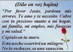 Frases Espirituales Con Fotos Gods Love Quotes, Mom Quotes, Life Quotes, Catholic Quotes, Catholic Prayers, God Prayer, Power Of Prayer, Easter Prayers, Spanish Prayers