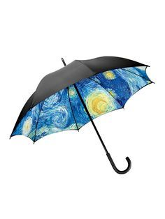 I should get this for my daughter...then every time it rained, she would see Van Gogh's Starry Night sky and she would think of me!!  Starry Night Umbrella - MoMA Umbrella | Gardener's Supply