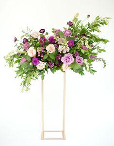 Playful Purple Floral Centerpiece | Tammy Odell Photography | Spain Ranch | Ever Something #bridesofok #wedding #weddinginspiration #centerpieces
