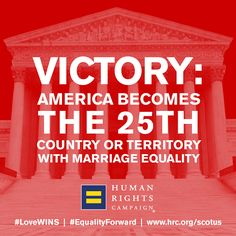 Friday, June 26, marked a historic occasion for American and world history.  Stay current on all marriage equality news: http://www.hrc.org/SCOTUS  Celebrate the historic win: hrc.org/lovewins  #LoveWins