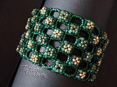 Lucky Green RAW Bracelet by tattooedraven on Etsy