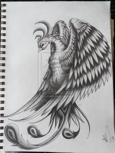 Pheonix Tattoo Design by ~scribilitary on deviantART...LOVE THIS!!!!
