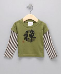 Sckoon Organics  Green Tea Zen Organic Layered Tee - Infant & Toddler, original $24.00, now $11.99