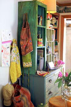 My Bohemian Home -   I'm thinking: painted fabric bags like my felt hearts?