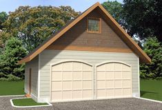 Two-car garage plans and double car garage designs are available in a variety of styles. View this collection of garage plans and garage to find a 2 car garage plan. 8x12 Shed Plans, Diy Shed Plans, Storage Shed Plans, Rv Storage, Attic Storage, Log Cabin House Plans, Cabin Homes, Garage Design, House Design