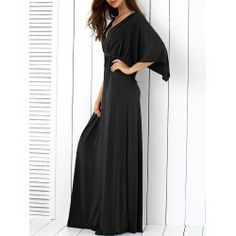 SHARE & Get it FREE | Batwing Sleeve Low Cut Maxi DressFor Fashion Lovers only:80,000+ Items • FREE SHIPPING Join Twinkledeals: Get YOUR $50 NOW!