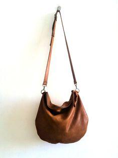 Brown leather bag Shoulder bag gift for her Cross-body bag Black Leather Backpack, Black Leather Bags, Brown Leather, Soft Leather, Cross Shoulder Bags, Large Shoulder Bags, Large Crossbody Bags, Leather Crossbody Bag, Leather Gifts For Her