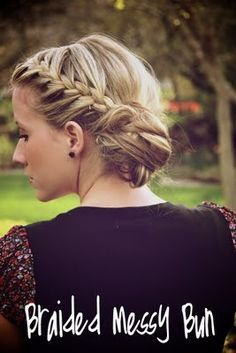 french braided hair updo bun