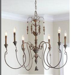 365 best lighting images on pinterest home ideas light fixtures quorum international salento six light persian white chandelier aloadofball Images