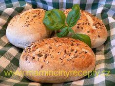 Grahamové housky kváskové Bagel, Graham, Hamburger, Food And Drink, Bread, Brot, Baking, Burgers, Breads