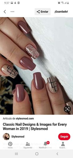 Classic Nails, Nail Designs, Beauty, Manicures, Nail Manicure, French Tips, Nail Salons, Nail Desings, Polish