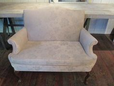 1950s love seat by CottageTreasuresLV on Etsy, $375.00