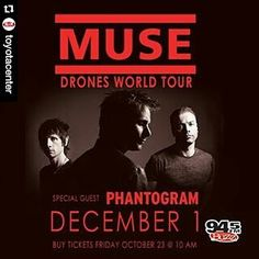 Super excited! Got awewome seat tickets for one of my favorite bands that's coming to #Houston in December @muse.  #Repost @toyotacenter with @repostapp  JUST ANNOUNCED: @Muse returns to #Houston on December 1 with special guest @Phantogram! Tickets on sale this Friday at 10am! #MuseDrones #Muse360