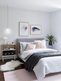 """pink grey bedroom idea bedroom for women for teens for girls for couple master bedroom design #""""bedroomideasmaster"""""""