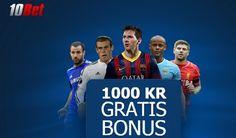 Sportbonus: 100% Upp till 1000 kr.  http://www.gratis-slot.com/nyheter/sportbonus-100-upp-till-1000-kr #betsafe #gratisslot #sportbonus