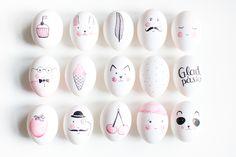 Om de här äggen var söta är det ingenting mot dessa skapelser! Det är duktiga illustratören Tove-Lisa som gått loss med vattenfärg (?) och tuschpenna (?) och målat de gulligaste och mest...