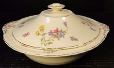 Myott Staffordshire Trouville Casserole Covered Vegetable Bowl Lid EXCELLENT #MyottStaffordshire