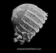 Vintage 1920s Baby Bonnet - Free Crochet Baby Bonnet Pattern