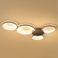 Vonn Lighting Capella 43-inches LED Ceiling Light Modern Multi-Ring Ceiling Fixture in Silver | Overstock.com Shopping - The Best Deals on Flush Mounts