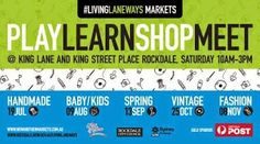 Poster for Living Laneways Market, Rockdale. Family Weekend, City Council, Kings Lane, Vintage Fashion, Marketing, Photo And Video, Sydney, Handmade, Poster