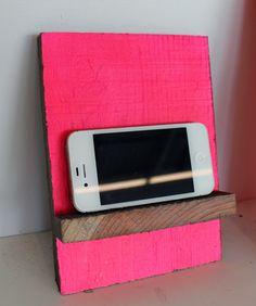 DIY hot pink scrap wood phone stand | Design*Sponge