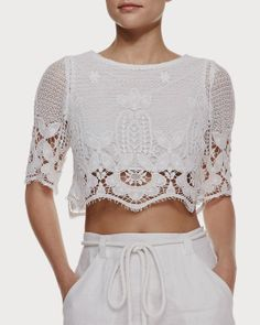 Togetherthetwo: Lou Scalloped Crop Top