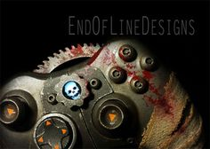 End of Line Design& custom Gears of War 360 controller is probably the only time (Silent Hill aside) it would be OK to put a bloody bandage on a controller. Xbox One Controller, Xbox 360, Video Games Xbox, Video Game Art, Fancy Video, Gears Of War 3, Custom Consoles, Steampunk Crafts, Xbox Console