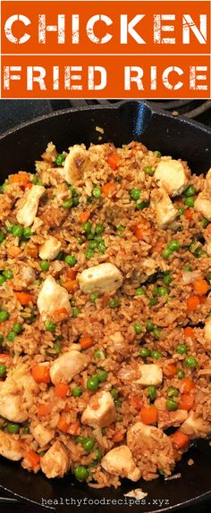 Easy & Delicious Chicken Fried Rice Recipe you must try at home Chicken Fried Rice Chinese, Chicken Fried Rice Recipe Easy, Chicken Fried Cauliflower Rice, Chicken Rice Recipes, Easy Rice Recipes, Vegetable Rice, Vegetable Recipes, Fried Rice Calories, Carbs In Chicken
