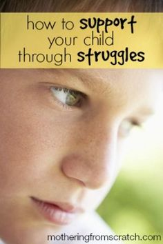 We all hate to see our children struggle. But sometimes we're powerless to do anything about it. Other times, we need to let them face their challenges without rescuing them. This post gives some practical ways to help our kids face life's struggles in healthy ways. www.motheringfromscratch.com