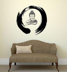 Wall Decal Zen Circle Buddha Buddhism Meditation Vinyl Stickers (ig3036) #Wallstickers4you
