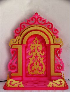 pink aasan ganpati decoration makhar