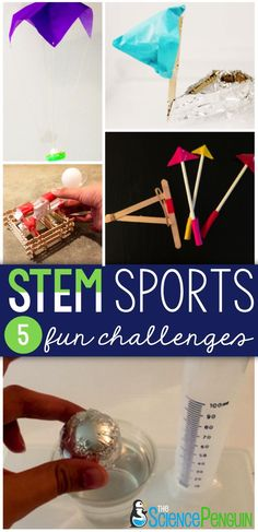Stem sports end of the year stem challenges for grades Activities For Teens, Steam Activities, Science Activities, Sports Activities, Indoor Activities, Summer Activities, Stem Science, Science Experiments Kids, Stem Projects