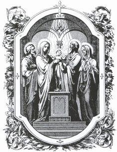 Apresentação ao Templo do Menino Jesus & Purificação e Maria ~ Sacra Galeria