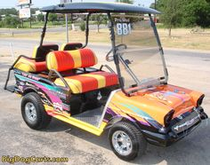 Cart was built for world champion boat racer Marty Logan.  Bigdog Custom Golf Carts