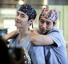 Park hae jin and Lee jong suk in doctor stranger drama