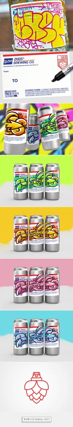 2Kids Brewing Labels - Packaging of the World - Creative Package Design Gallery - http://www.packagingoftheworld.com/2017/08/2kids-brewing-labels.html