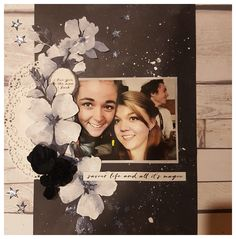 Scrapbook Page Layouts, Scrapbooking Ideas, Scrapbook Pages, Arts And Crafts, Paper Crafts, Wedding Scrapbook, General Crafts, Layout Inspiration, Stargazing
