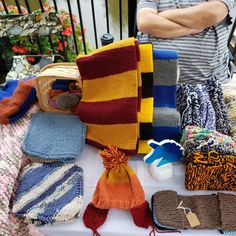 At the Chesterville Waterfront Market. Chair Socks, Green Slippers, Host Gifts, Knit Dishcloth, Winter Day, Ravenclaw, Knitting Needles, Harry Potter, How To Make