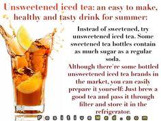 Un sweetened iced tea.  http://positivemed.com/posts/