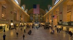Grand Central Station is a commuter rail terminal station in Midtown Manhattan in New York City. Built by and named for the New York Central Railroad in the heyday of American long-distance passenger rail travel, it is the largest train station in the world by number of platforms.