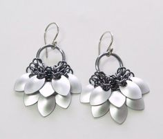 Scale Maille Earrings by Karen  Karon